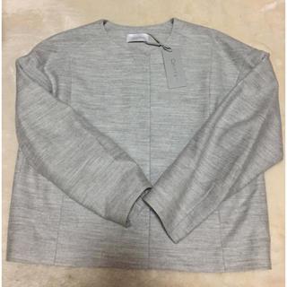 カルバンクライン(Calvin Klein)のコクーン袖 ジャケット 新品タグ付き(ノーカラージャケット)