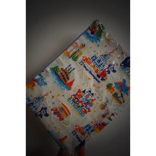 ディズニー(Disney)の[ディズニー]ファスナーポーチ「レア紙袋、ファスナー水色」(ポーチ)