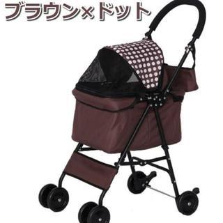 ★限定SALE★折りたたみペットカート 4輪:ブラウン