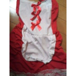 モアC様専用✨セクシー メイド服 赤❌白。・:+°(衣装一式)