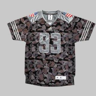 アディダス(adidas)のUK、US=M JP=O bape Jersey adidas 黒(Tシャツ/カットソー(半袖/袖なし))