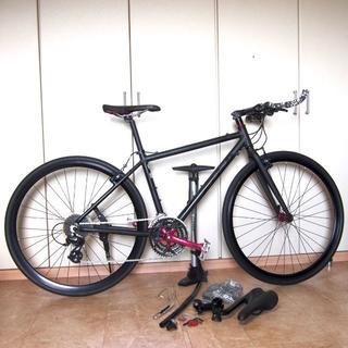 フジバイクス(FUJI BIKES)のフジ ブルホーンカスタム 美車 ストリートバイク黒 オマケ多 価7.3万(自転車本体)