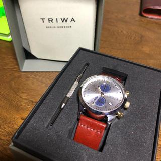 トリワ(TRIWA)のTRIWA Lansen Chrono ネイビー&ブラウン(腕時計(アナログ))