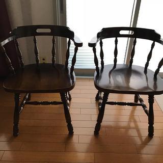 カリモク家具 - 三脚セット 飛騨産業 キツツキマーク レトロ アンティーク チェア