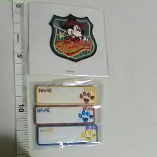 ディズニー(Disney)のミッキーとスヌーピーの足跡ネームワッペン(ネームタグ)