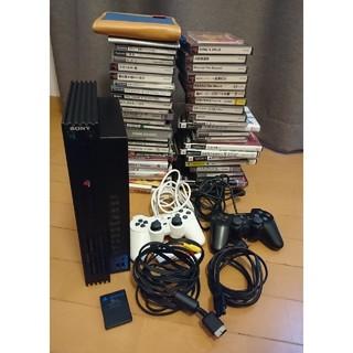 プレイステーション2(PlayStation2)のプレイステーション2本体 & PS1/PS2ソフト 50本 セット(家庭用ゲーム本体)