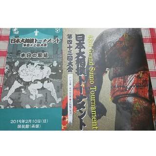 日本大相撲トーナメントパンフレット(相撲/武道)