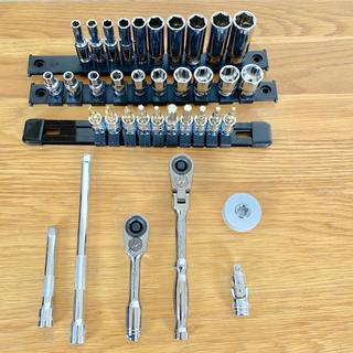 PWT1/4インチ(6.35mm)ソケット工具フルセット(工具)