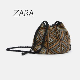 ザラ(ZARA)の【新品・未使用】ZARA ビーズ付き バッグ(ショルダーバッグ)
