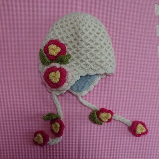 キッズフォーレ(KIDS FORET)のベビー・キッズ 毛糸の帽子(帽子)