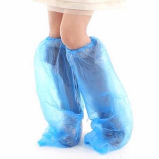 10足 使い捨て 携帯用 防水 シューズ カバー 靴カバー ロング シューズ(長靴/レインシューズ)