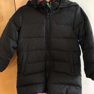 ムジルシリョウヒン(MUJI (無印良品))の無印良品120センチ女の子の黒ダウンコート(ジャケット/上着)
