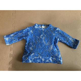 プティマイン(petit main)のプティマイン 80 女児 ブルー トレーナー風(トレーナー)