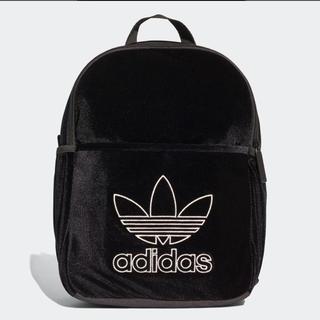 アディダス(adidas)の新品 アディダス オリジナルス キッズ リュック ベロア ブラック 黒(リュックサック)