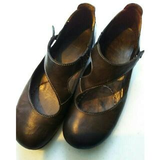 サヤ(SAYA)のSAYA革フラットシューズ(ローファー/革靴)
