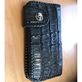 スタンリーゲス(STANLEY GUESS)のスタンリーゲスウォレットクロコダイル財布skkin BWL(長財布)