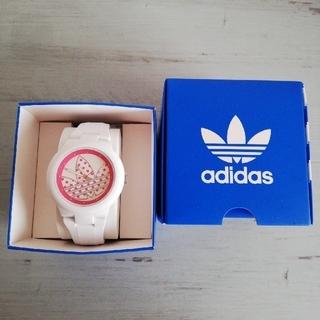 アディダス(adidas)のadidas  ホワイト ピンクドット 腕時計(腕時計)