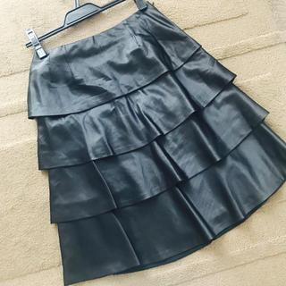 セラビ(C'EST LA VIE)の【セラビ】2回使用☆黒ドレープスカート(ひざ丈スカート)