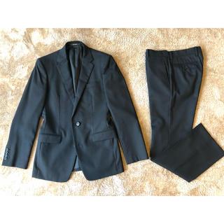 コムサメン(COMME CA MEN)の極美品 コムサメン 黒シャドーストライプスーツ 44サイズ(セットアップ)