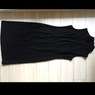 アツロウタヤマ(ATSURO TAYAMA)のAT タヤマアツロウ ワンピース タートルネック ハイネック ウール 黒(ロングワンピース/マキシワンピース)