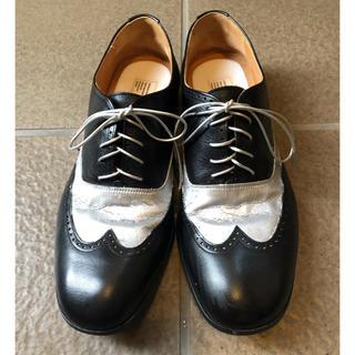 マルタンマルジェラ(Maison Martin Margiela)のマルタンマルジェラレプリカウィングチップペイントシューズ41(ドレス/ビジネス)