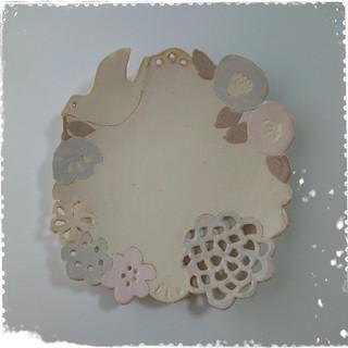 陶芸作家 ☆ 中村かおり ☆ 花鳥穴あき皿 (食器)