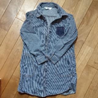 シマムラ(しまむら)のシャツワンピ120センチ(ワンピース)