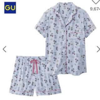 ジーユー(GU)のGU ミニー 水色 ルームウェア パジャマ(ルームウェア)