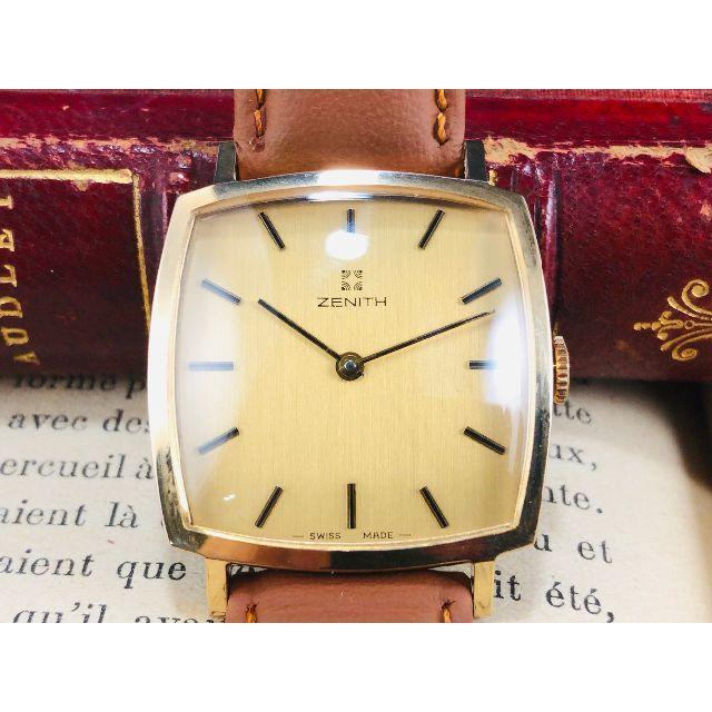 ZENITH★スクエア タンク ゴールドケース★腕時計★男性用の通販 by パパ君's shop|ラクマ