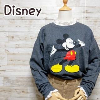 ディズニー(Disney)のディズニー Disney ミッキー Hanes グレー トレーナー(スウェット)