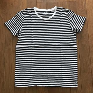 MUJI (無印良品) - 無印 オーガニックコットン ボーダーTシャツ