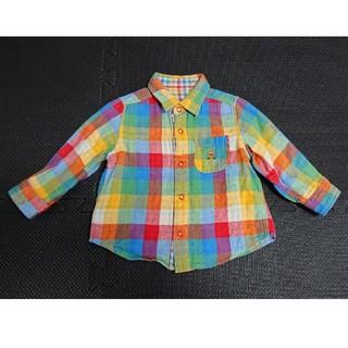 ミキハウス(mikihouse)のミキハウス☆リバーシブルのシャツ☆男女兼用・サイズ80(シャツ/カットソー)