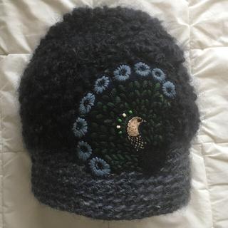 ミナペルホネン(mina perhonen)のヒトミシノヤマ×ミナペルホネン クジャクニット帽(ニット帽/ビーニー)
