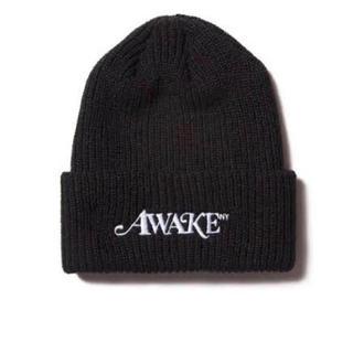 アウェイク(AWAKE)のAwake NY Beanie Black(ニット帽/ビーニー)