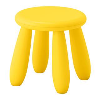 イケア(IKEA)のIKEA MAMMUT キッズスツール イエロー(スツール)