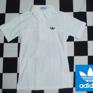 アディダス(adidas)の激レア【アディダス】70sビンテージポロシャツS(153cm)白美品(ポロシャツ)
