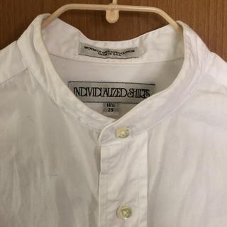 インディヴィジュアライズドシャツ(INDIVIDUALIZED SHIRTS)の便利アイテム✳︎INDIVIDUALIZEDSHIRTSノーカラーロングシャツ(シャツ/ブラウス(長袖/七分))