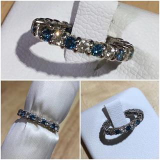 るなぷぅ様専用❗️ピンキーリング ブルートリート天然ダイヤリング約4.5号(リング(指輪))