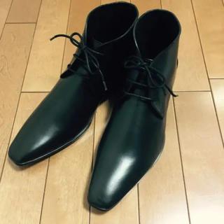 新品未使用 ビジネス レザー レイン ブーツ ショート(長靴/レインシューズ)