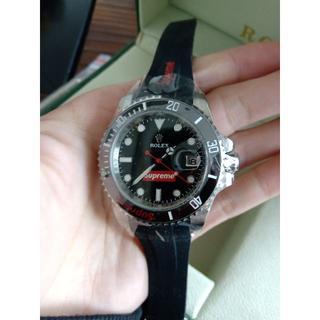 ロレックス(ROLEX)のロレックス supreme メンズファッション 自動巻き 腕時計(ラバーベルト)