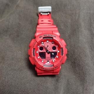 ジーショック(G-SHOCK)のCASIO G-SHOCK GA-100C 海外モデル レッド(腕時計(デジタル))