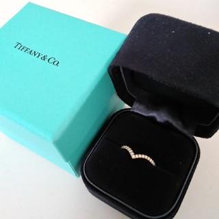 ティファニー(Tiffany & Co.)のTIFFANY Vソレスト リング YG ダイヤモンドリング(リング(指輪))