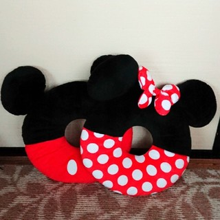 ディズニー(Disney)のミッキー&ミニー円座クッションセット(クッション)