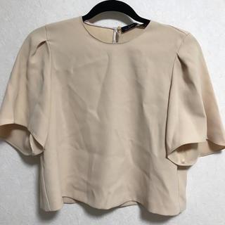 ザラ(ZARA)のZARA オレンジブラウス(シャツ/ブラウス(半袖/袖なし))