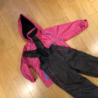 スキーウェア 女の子 110cm  ピンク 調節可能(ウエア)