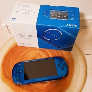 プレイステーションポータブル(PlayStation Portable)のpsp-3000 バイブラントブルー(携帯用ゲーム本体)