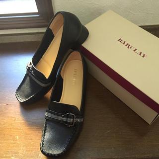 バークレー(BARCLAY)のBARCLAY ローファー黒 24㎝(ローファー/革靴)