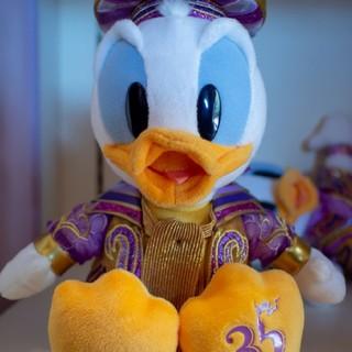 ドナルドダック(ドナルドダック)のディズニー35周年グッズ ドナルドぬいぐるみ(キャラクターグッズ)