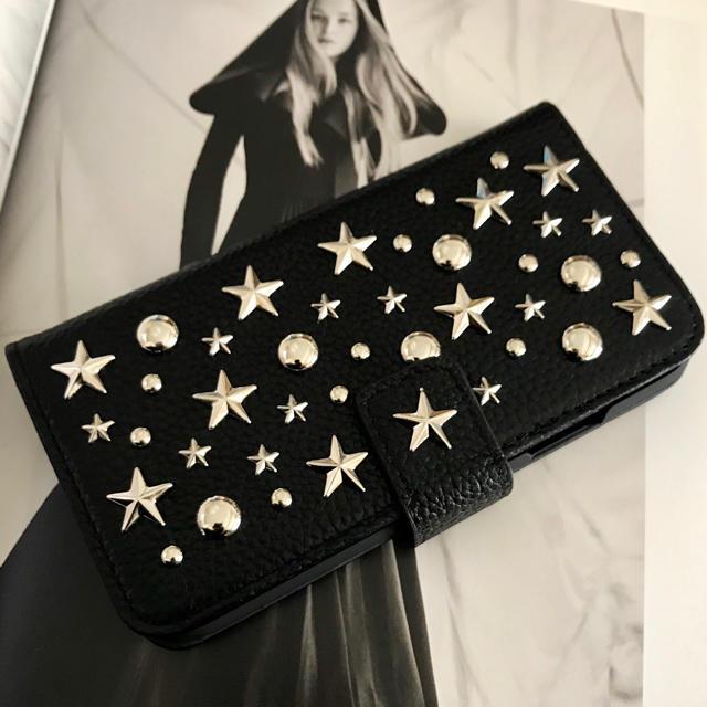 iphone8 ケース 韓国 人気 | ENLA☆DreamyStars☆スタースタッズ本革iPhoneケース☆最新作☆の通販 by heavenly's shop|ラクマ