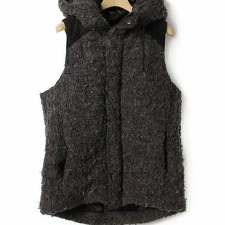 テットオム(TETE HOMME)のテットオム 中綿ベスト 美品 サイズ6 ブラック 定価28080円(ベスト)